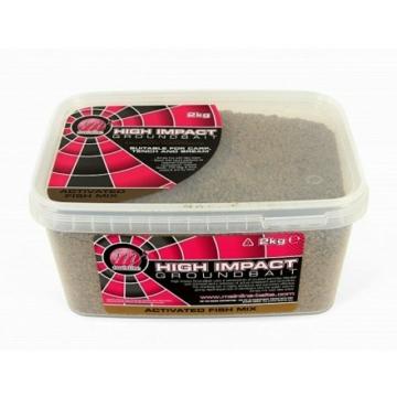 Mainline High Impact Groundbaits Activeted Fish Mix - aktív halas mix 2 kg-os vödörben