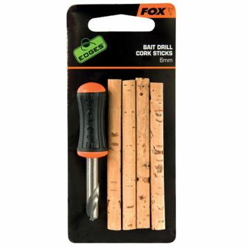 Fox Edges Bait Drill & Cork Sticks - 6 mm-es fúró és parafarudak