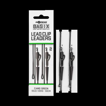 Korda BASIX Lead Clip Leaders - leadcore gubancgáncló ólomklippel és QC forgóval
