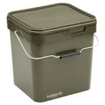 Trakker 17 Litre Olive Square Containers - 17 liters szögletes műanyag vödör