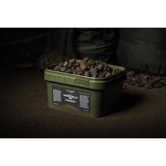 S-Carp Product Halibut Pellet Mix - pellet mix vödörben