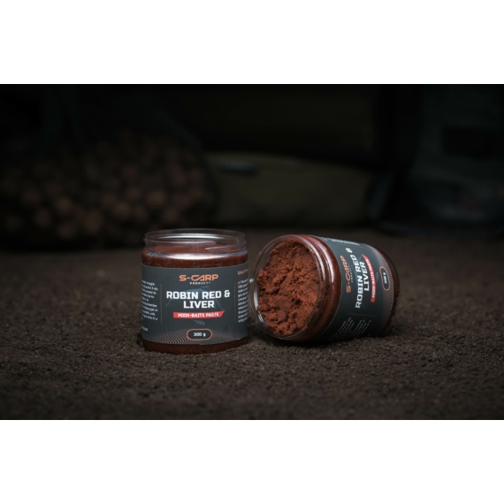 S-Carp Product Robin Red & Liver Hookbait Paste - horogpaszta