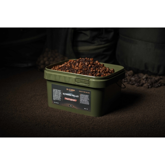 S-Carp Product Ultramix Pellet + Robin Red - pellet keverék vödörben 3 kg