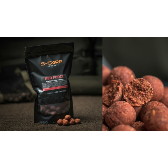 S-Carp Product Red Force Boilie 20mm - Red Force bojli 1 kg