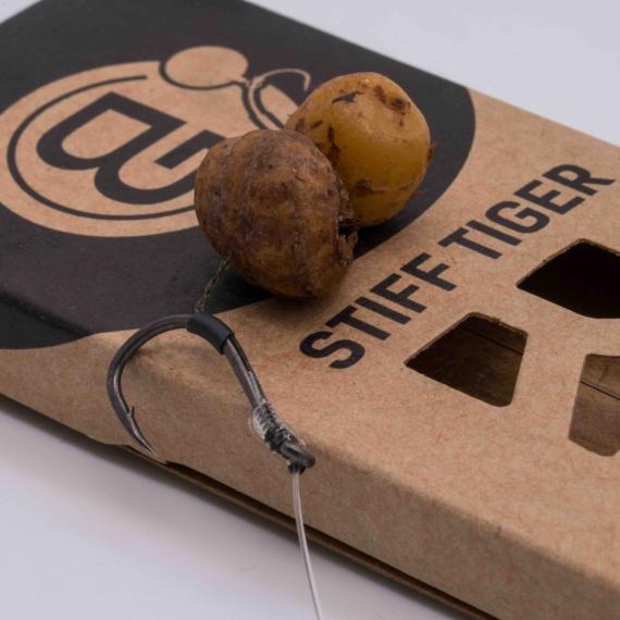 BG Stiff Tiger Rig - Bujáki Géza kedvenc fluorocarbon horogelőkéje tigrismogyoró csalizásához