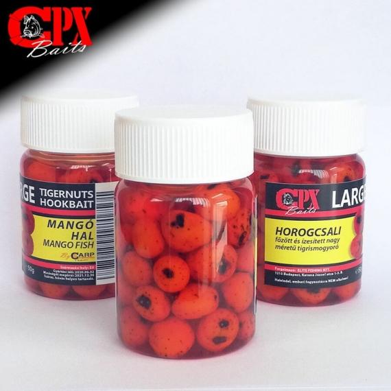 CPX Baits Főtt színezett Large tigrismogyoró horogcsali - Mango Hal 50 gramm