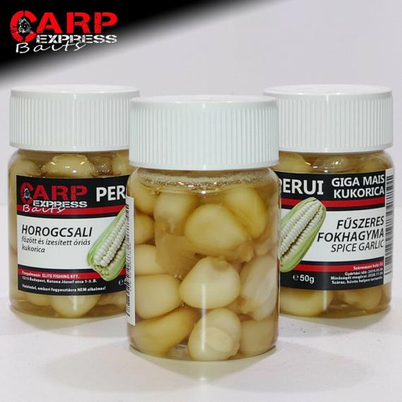 CPX Baits Főtt színezett Perui Giga kukorica horogcsali - Fűszeres Fokhagyma 50 gramm