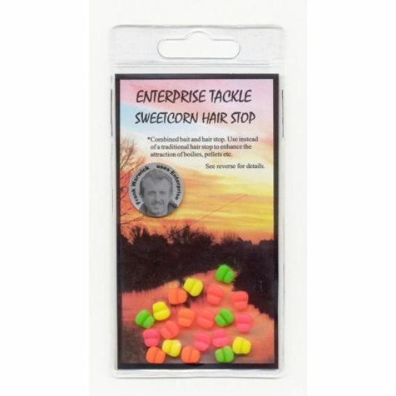 Enterprise Tackle Sweetcorn Hair Stop Fluoro - csemegekukorica imitáció és bojli stopper