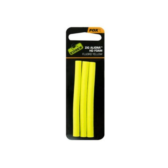 Fox Aligna Foam x 3 Yellow - sárga szivacsrúd 3 db zig horgászathoz