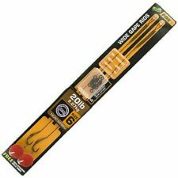 Fox Armapoint Wide Gape Ready Rig 20lb - kész szerelék 20lb (9.07kg) barna 6-os Wide Gape horogmérettel