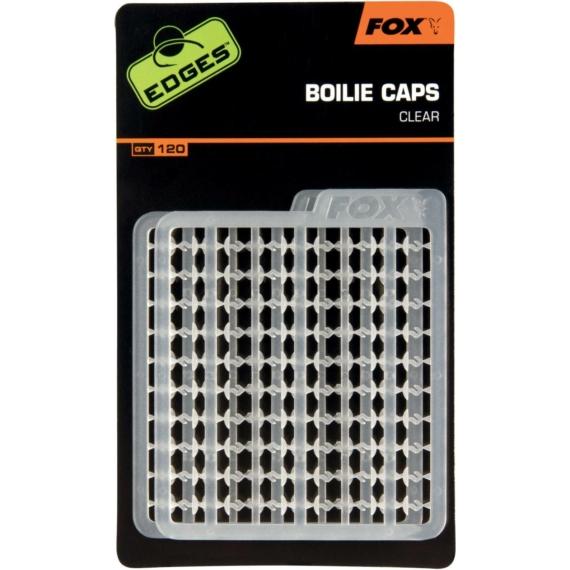 Fox Edges Boilie Caps Clear - stopper áttetsző színben