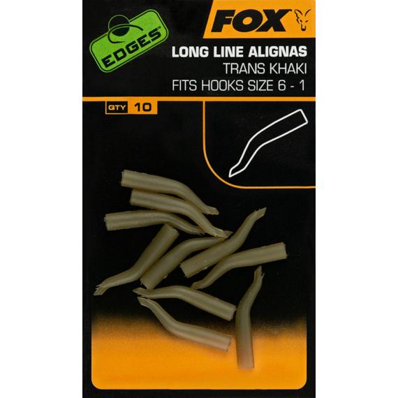 Fox Edges Long Line Aligna Trans Khaki Size 1-5 - horogbefordító 1-5-os horogmérethez khaki színben