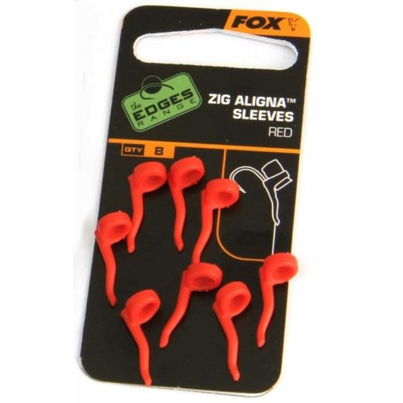 Fox Zig Aligna Sleeves x 8 Red - piros horogbeforító 8 db zig horgászathoz