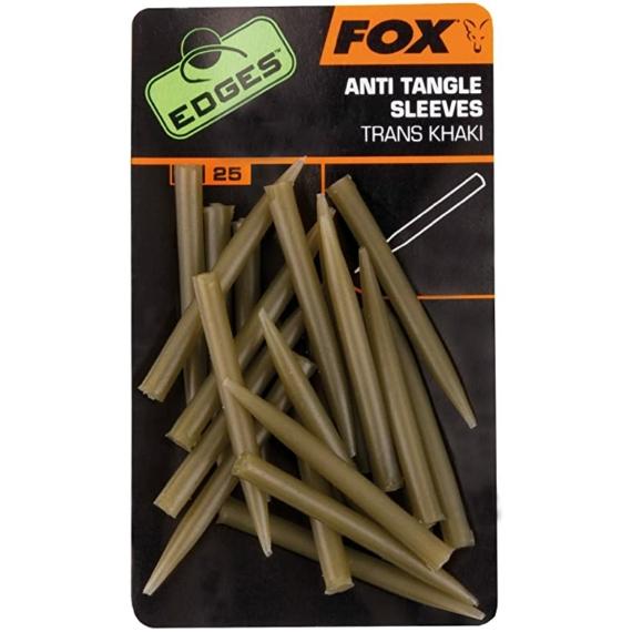 Fox Edges Anti Tangle Sleeves Khaki - gubancgátló hüvely átlátszó barna színben
