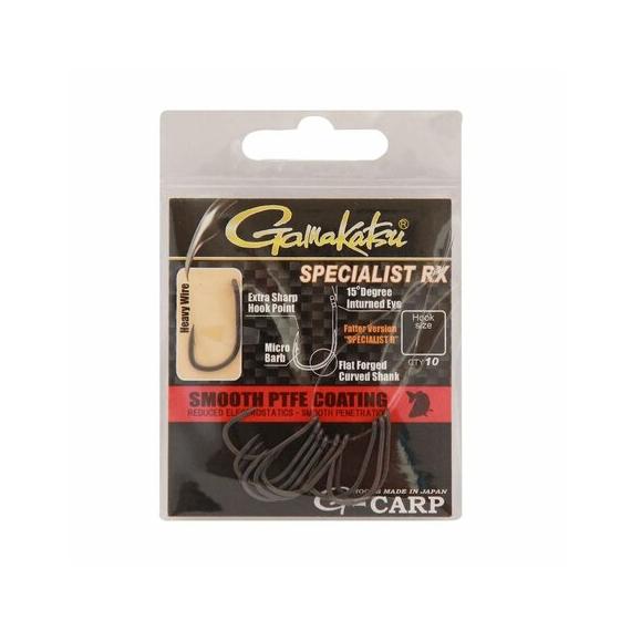 Gamakatsu Specialist RX Hook - mikro szakállas pontyozó horgok 2-12-es méretekben