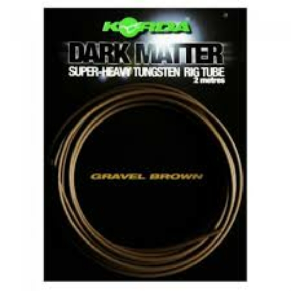 "Korda Dark Matter Super-Heavy Tungsten Rig Tube Gravel Brown - ólmozott gubancgátló cső ""sóder"" színben"