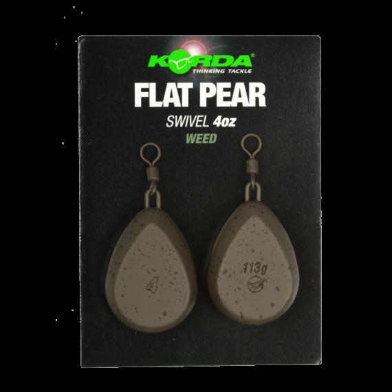 Korda Flat Pear Swivel Blister 4-5 oz - klipszes ólom / 112 -140 gramm 2db