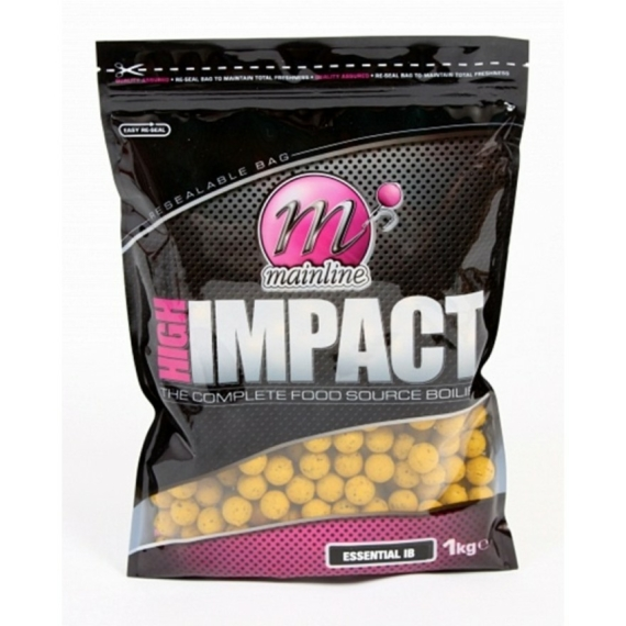 Mainline High Impact Boilies Essential I.B. - 16-20mm, 1 kg-os bojli (édes gyümölgyös)