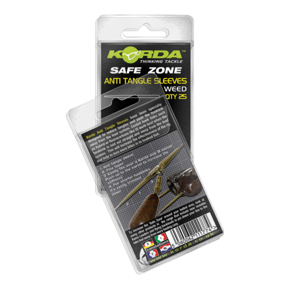 Korda Anti Tangle Hooklink Sleeves (Silt) - gubancgátló gumicső (iszap színben)