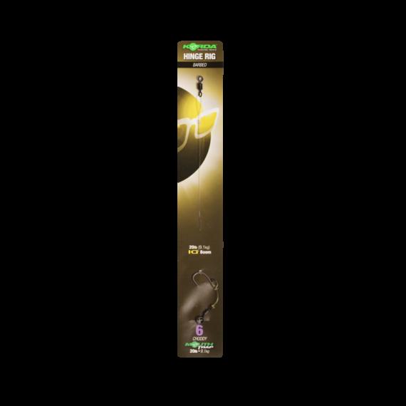 """Korda Hinge Rig Size 6 Choddy MT 25lb-IQ2 20lb -  6-os méretű előkötött horog előke """"Mouth Trap""""-pel kötve"""