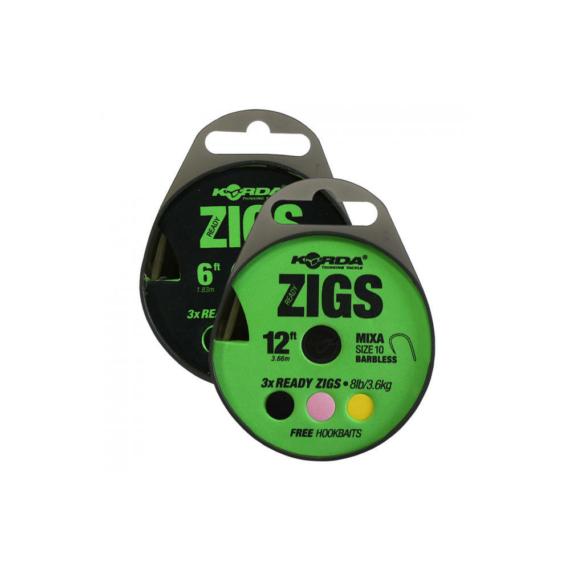 Korda Ready Zigs 8' (240cm) Size 10 - készre kötött Zig szerelék