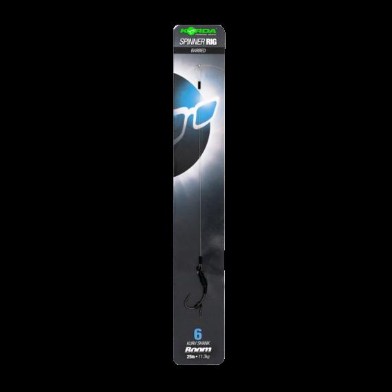 """Korda Spinner Rig Size 4 7"""" Boom 25lb - előkötött 4-es horog előke """"Boom"""" előkeanyagból"""