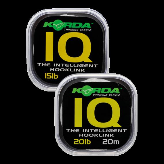 Korda IQ Fluorocarbon Hooklink - előkezsinór 20-25 lb 20m