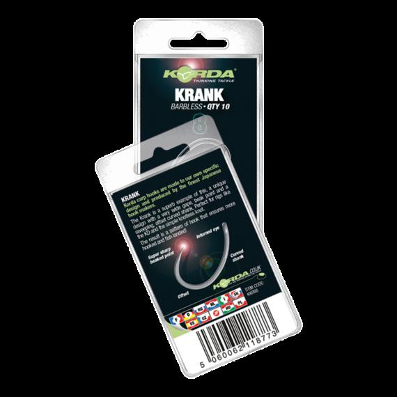 Korda Krank Hook Barbless 4-10 méretig - szakáll nélküli ponytozó horog