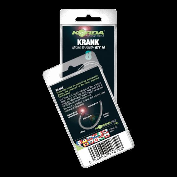 Korda Krank Hook Micro Barbed - mikro szakállas pontyozó horog 2-10-es méret