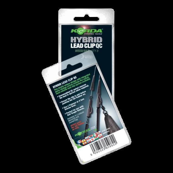 """Korda Hybrid Lead Clip QC Weed/Silt - ólomklipsz gyorscselélő forgóval """"iszap"""" zöld színben"""