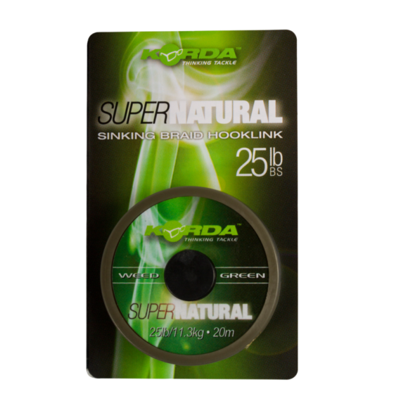 Korda Super Natural Weedy Green - előkezsinór 18 -25 lb 20m