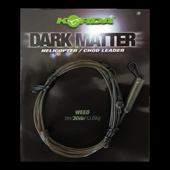 """Korda Dark Matter Heli/Chod Leader 40lb Weed - ólmozott gubancgátló leadcore helyettesítő """"növényzet"""" színben"""