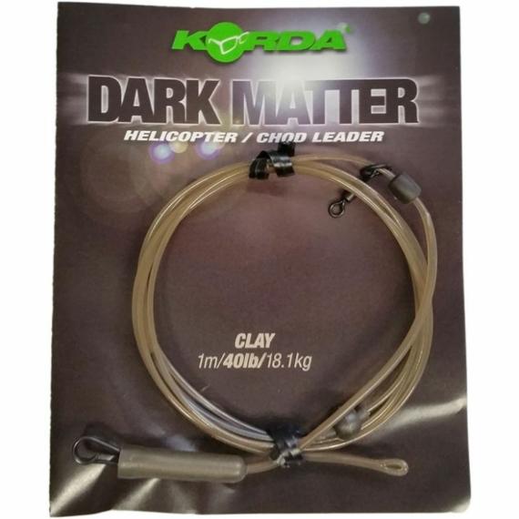 """Korda Dark Matter Heli/Chod Leader 40lb Clay - ólmozott gubancgátló leadcore helyettesítő """"gyurma"""" színben"""