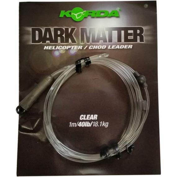 """Korda Dark Matter Heli/Chod Leader 40lb Clear - ólmozott gubancgátló leadcore helyettesítő """"áttetsző"""" színben"""