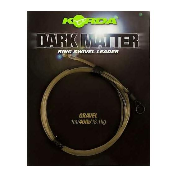 """Korda Dark Matter QC Swivel Leader 40lb Gravel - leadcore helyetesítő gubacgátló 50cm """"sóder"""" színben"""