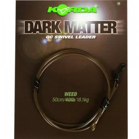 """Korda Dark Matter QC Swivel Leader 40lb Weed- leadcore helyetesítő gubacgátló """"növényzet"""" színben"""