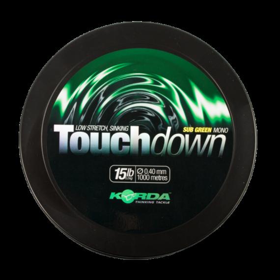 Korda Touchdown Green 0,30mm - 0.40mm - monofil főzsinór zöld színben