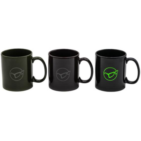 Korda Mug Glasses Logo - Korda logóval ellátott bögre fekete/olíva/burgundi színben