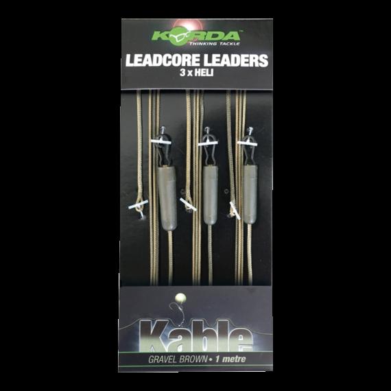 """Korda Leadcore Leader 3 x Heli Gravel - előkötött helikopter leadcore """"sóder"""" színben"""