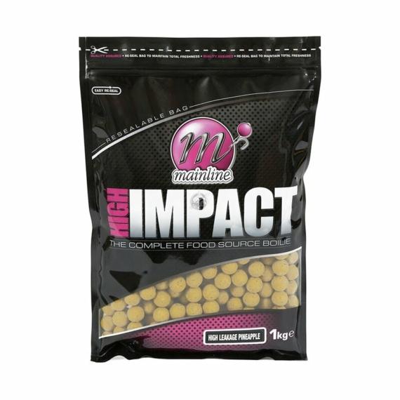 Mainline High Impact Boilies H/L Pineapple 15-20mm, 1 kg-os bojli