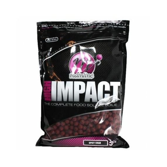 Mainline High Impact Boilies Spicy Crab Bojli - 15-20mm - 3 kg