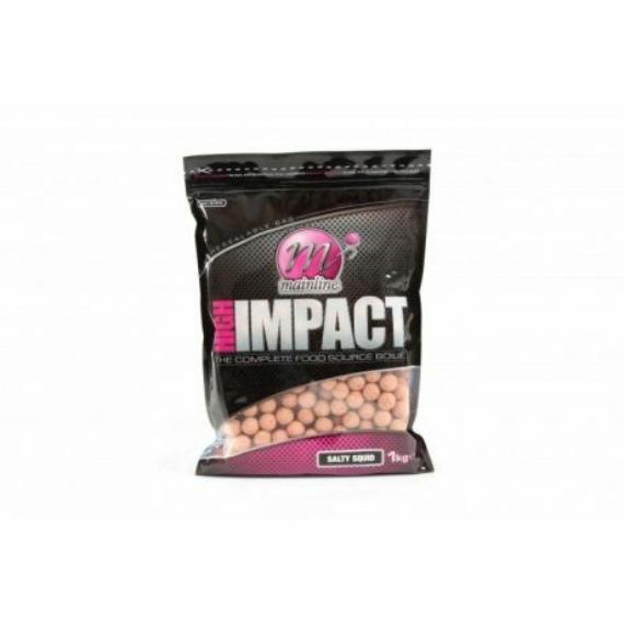 Mainline High Impact Boilies Salty Squid - 15-20mm 1kg vagy 3kg-os bojli (sós tintahal ízesítéssel)