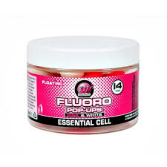 "Mainline Pink & White Pop-ups Essential CellTM - 14mm-es lebegő bojli ""Essential Cell"" ízesítéssel"