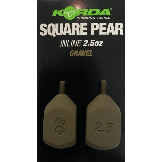Korda Square Pear Inline Blister 2,5 -5 oz - inline ólom 2db /csomag  71-142 gramm