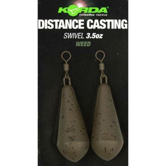 Korda Distance Casting Swivel Blister 3,5 -5 oz - távdobó ólom 2 db / csomag 98- 140 gramm