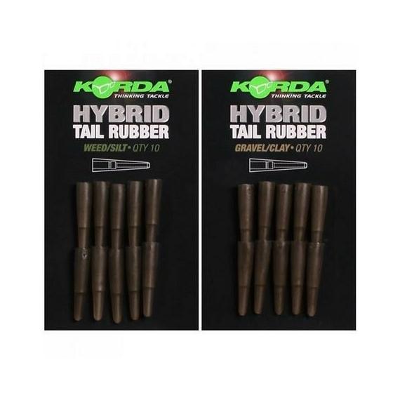 """Korda Hybrid Tail Rubber Weed/Silt - gumiharang """"növényzet"""" iszap színben"""