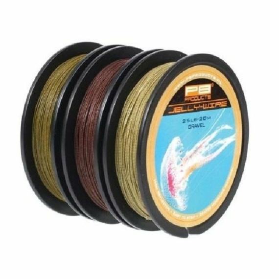 PB Products Jelly Wire 15 , 25 , 35 lb - előkezsinór ,20 méter, sóder, iszap, növényzet színekben