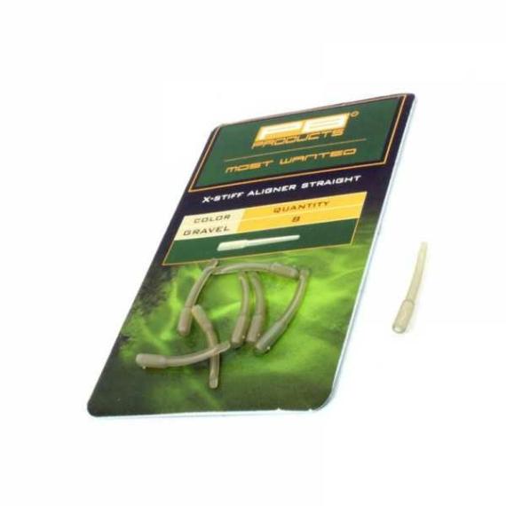 """PB Products X Stiff Aligner Long Shank """"Gravel"""" - hosszú zsugorcső helyettesítő horogbefordító """"kavics"""" színben"""