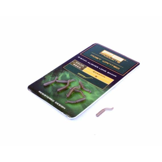 """PB Products X Stiff Aligner Short Shank """"Weed"""" - rövid zsugorcső helyettesítő horogbefordító """"növényzet"""" színben"""