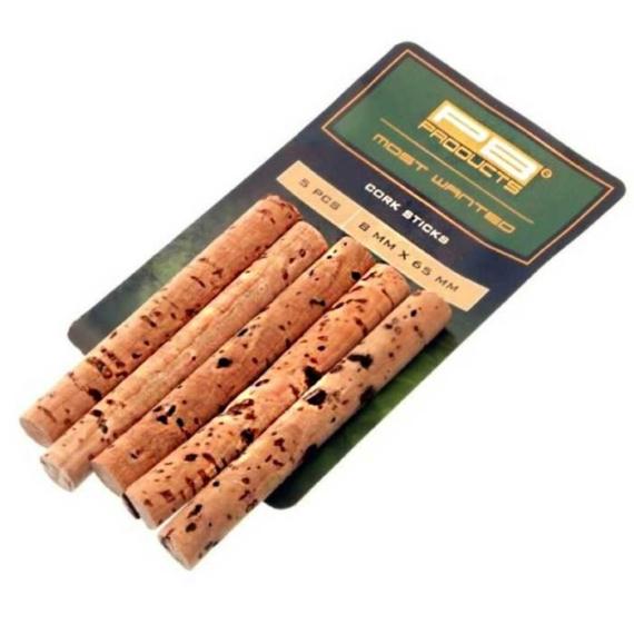 PB Products Cork Sticks 8mm - parafa rúdak 5db